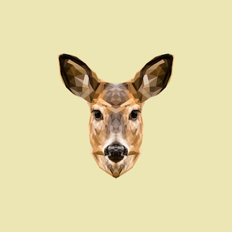 鹿の低ポリアート