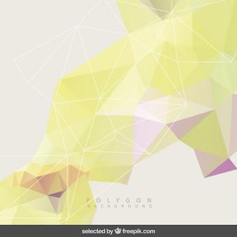 黄色の色調でポリゴン背景