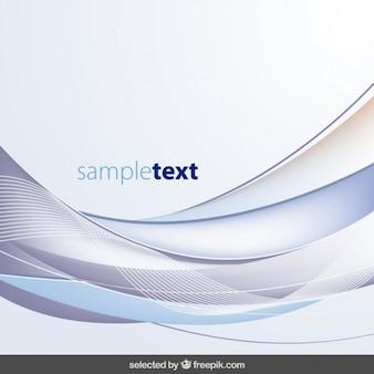 青い色調で抽象的な波状の背景