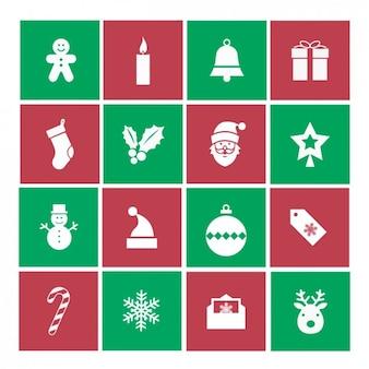 クリスマスのアイコン集