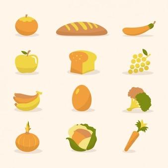 野菜や果物のコレクション