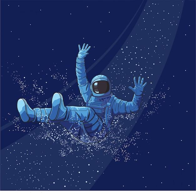 宇宙飛行士のウォータースライダー