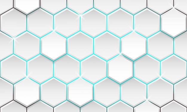 未来の幾何学的な背景、モダンな六角形の背景
