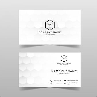 Современная визитная карточка с геометрическим шестиугольником