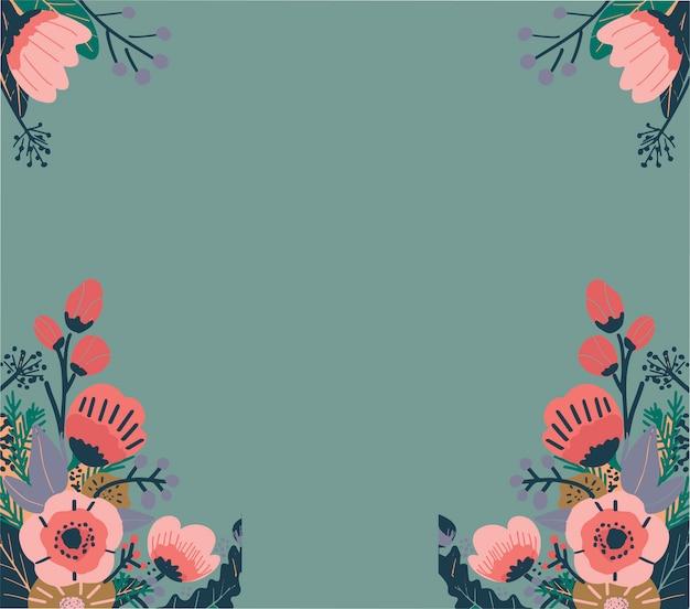 カラフルな抽象的な花柄。シームレスなベクトルの背景