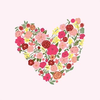 手描きの花のベクトルの背景