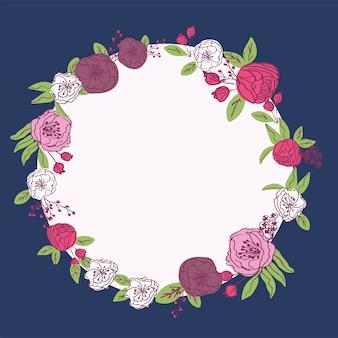 Ручной обращается цветочная рамка