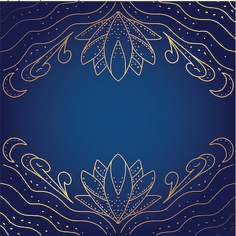 Абстрактная текстура иллюстрации золота лотоса