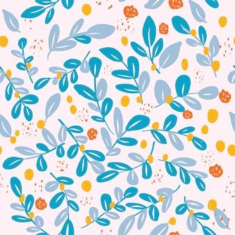 手描き花柄シームレス