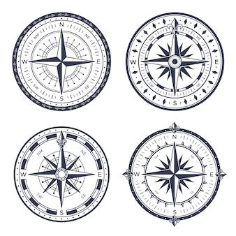 Винтажный морской компас