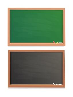 空の学校の黒板
