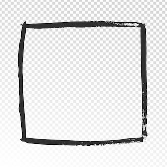 グランジの正方形のフレーム