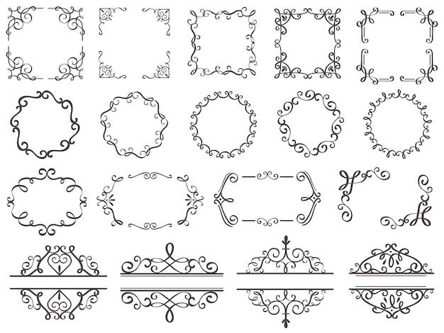 レトロな装飾フレームセット