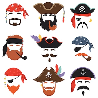 Карнавальная пиратская маска