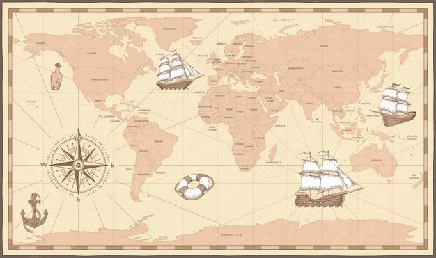 Античная карта мира