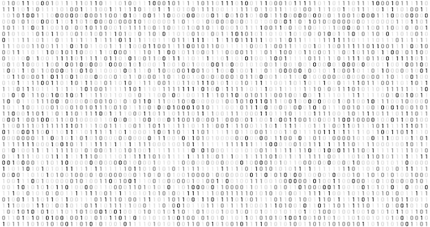 Двоичный матричный код. компьютерный поток данных, цифровые коды безопасности и серый кодирования информации абстрактный фон