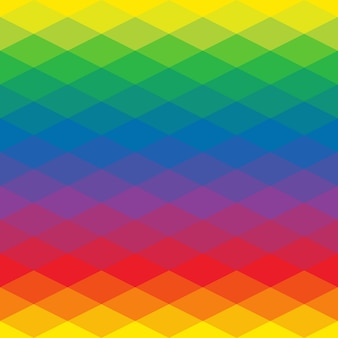 Геометрия треугольник, мозаика иллюстрация с цветами радуги.