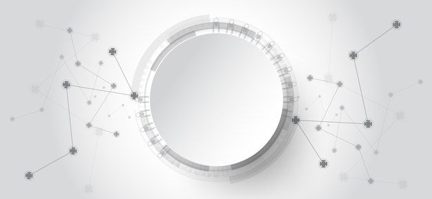 Абстрактный фон технологии с различными технологическими элементами.