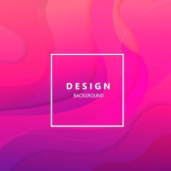 ピンクの正方形の背景のグラデーションテンプレート