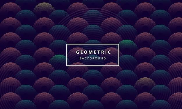モダンな円の幾何学的な背景を抽象化します。