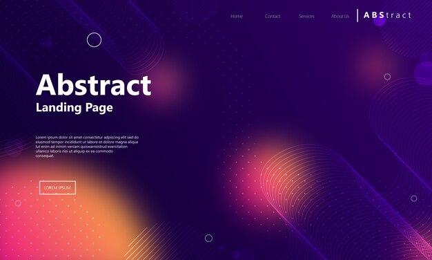 Современная абстрактная геометрическая целевая страница