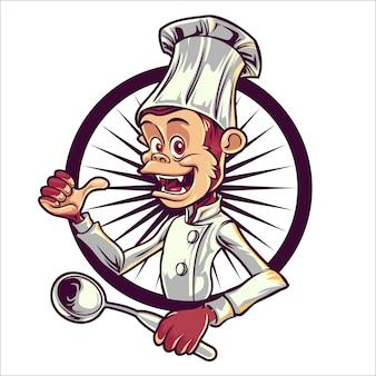 Мультфильм повар обезьяна