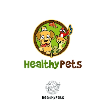 健康なペットのロゴ