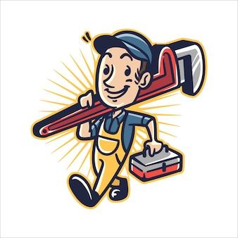 漫画の配管工の男
