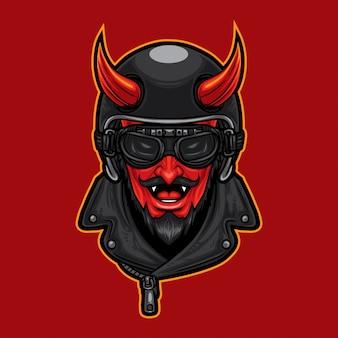 Дьявол-голова-гонщик