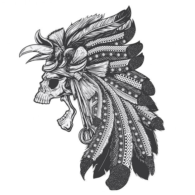 ダヤクの頭蓋骨