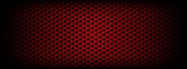 六角形の背景を持つ暗い赤のシームレスパターン