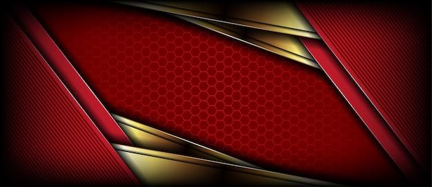 Роскошный современный ярко-красный золотой фон