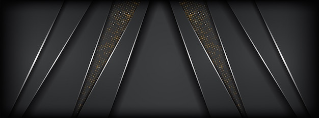 Абстрактный темно-серый металлик фон с серебряной линией