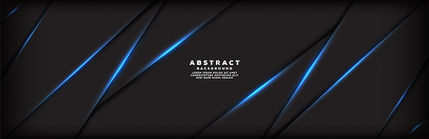 抽象的な青い光線スラッシュバナーの背景