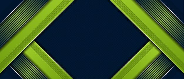 豪華な緑の背景を持つ抽象的な現代的な暗いプレミアム