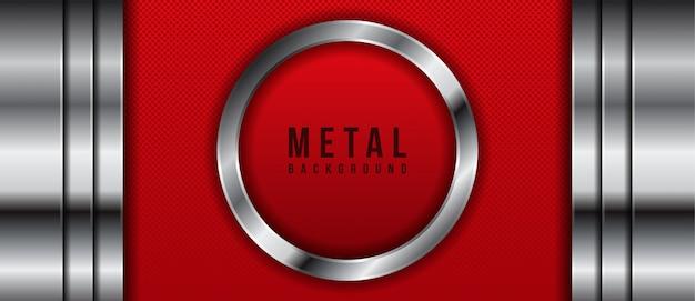 Абстрактный темно-красный металлический фон
