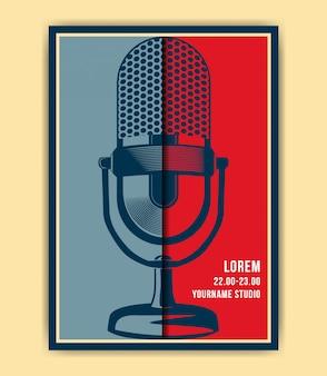Плакат с микрофоном