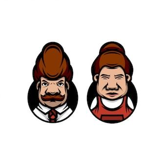 Мистер и миссис логотип современный