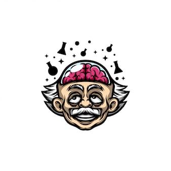 Логотип мозга альберта эйнштейна