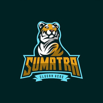 Значок логотипа тигр киберспорт