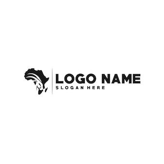 アフリカのロゴタイプテンプレート