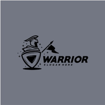 戦士のロゴのテンプレート