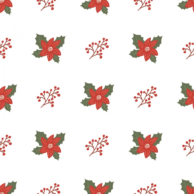 Рождественский фон с омелой