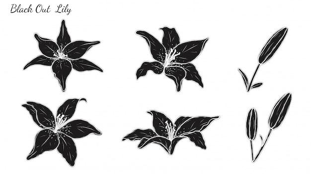 Набор из лилии
