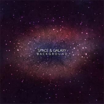 Космическая галактика фон с туманностью, звездной пылью и яркими блестящими звездами