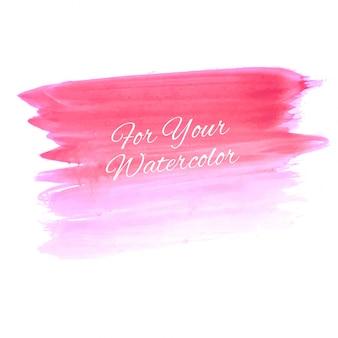 抽象的な美しいピンクの水彩画のイラスト
