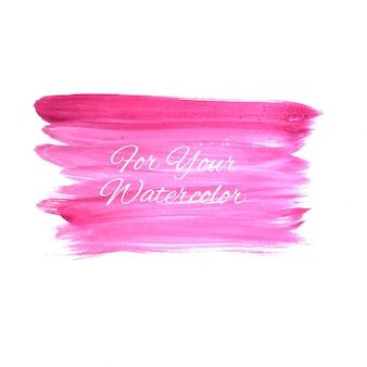 抽象的なピンクの水彩ストロークブラシの背景ベクトル