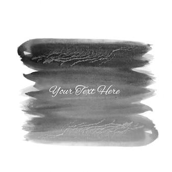 抽象的な灰色のブラシストロークの水彩の背景