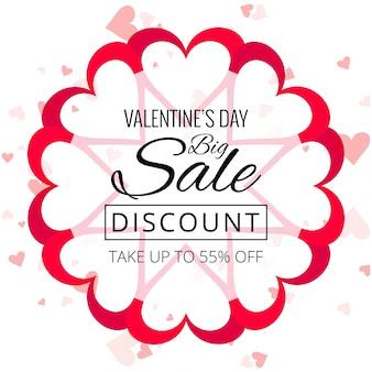 Валентина день красочные сердца продажа фона дизайн иллюстрации