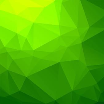 エレガントな緑色の幾何学的ポリゴンの背景